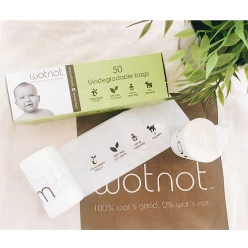 WOTNOT 100% Biodegradable Nappy Bags - 50 pcs