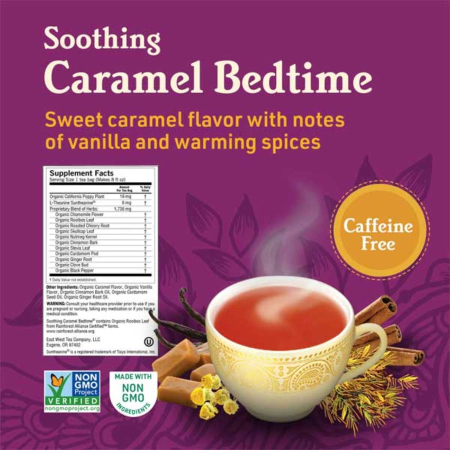 YOGI Organic Herbal Tea Soothing Caramel Bedtime 16 Bags