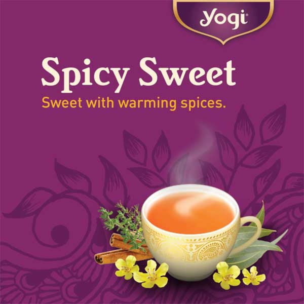 YOGI TEA Organic Breathe Deep Herbal Tea Info Sheet