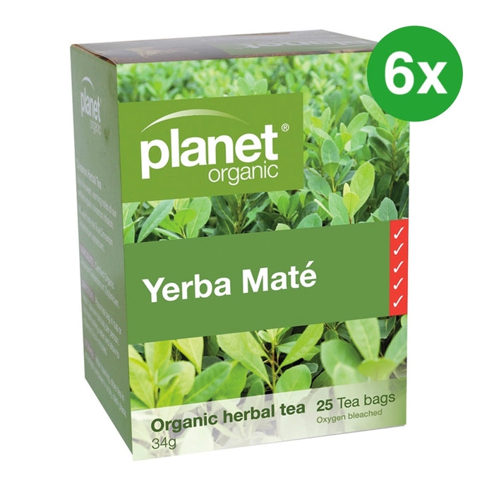 PLANET ORGANIC Yerba Mate Herbal Tea - 25 Bags