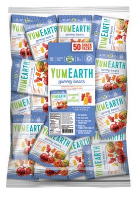 YUMEARTH Organic Gummy Bears Snack Packs Refill Bag Only 20g