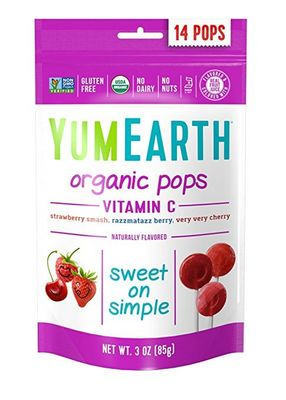 YUMEARTH Organic Lollipops Bags Vitamin C 85g/14 lollipops per bag