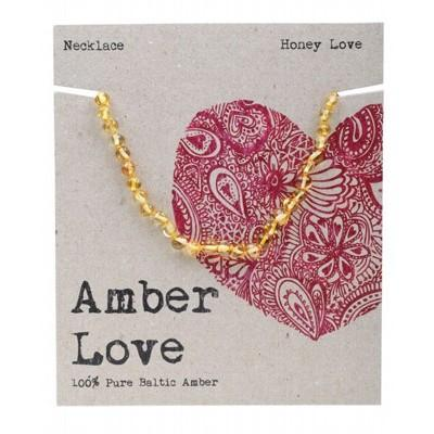 AMBER LOVE Childrens Necklace Baltic Amber Honey Love 33cm