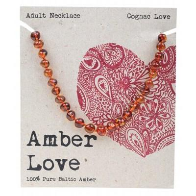 AMBER LOVE Adult's Necklace Baltic Amber - Cognac Love 46cm
