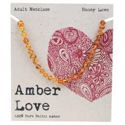 AMBER LOVE Adult's Necklace Baltic Amber - Honey Love 46cm