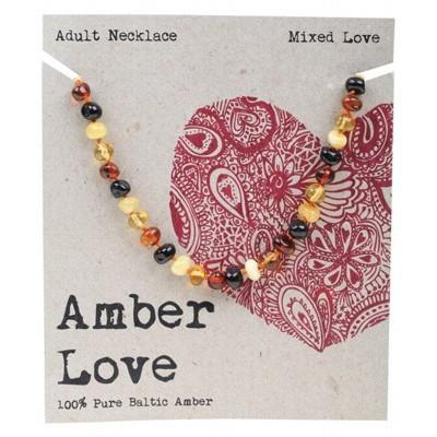 AMBER LOVE Adult's Necklace Baltic Amber - Mixed Love 46cm