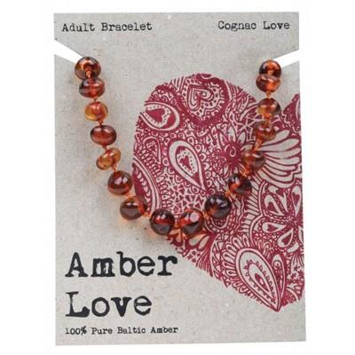 AMBER LOVE Adult's Bracelet Baltic Amber - Cognac Love 20cm