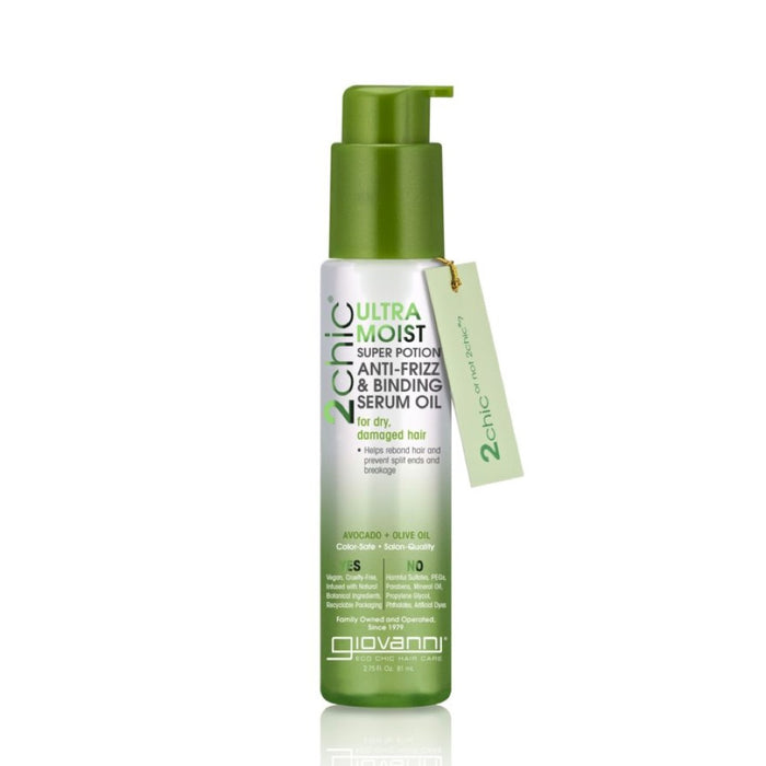 GIOVANNI Organic Anti-Frizz Serum 2chic Ultra-Moist (Dry, Damaged Hair) 53ml