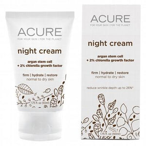 ACURE Organic Night Cream Argan Stem Cell + Chlorella 50ml