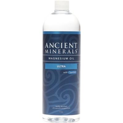 ANCIENT MINERALS Magnesium Oil (50%) & MSM Ultra 1L