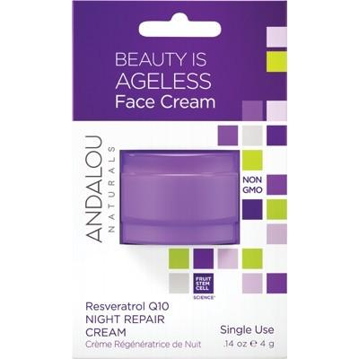 ANDALOU NATURALS Pod Face Cream - Ageless Resveratrol Q10 Night Repair 4g