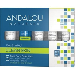 ANDALOU NATURALS Clear Skin (for Oily Skin) Trial & Travel Pack 5 Mini's