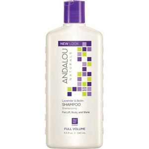 ANDALOU NATURALS Organic Shampoo Full Volume Lavender Biotin Adds Lift Body Shine 340ml