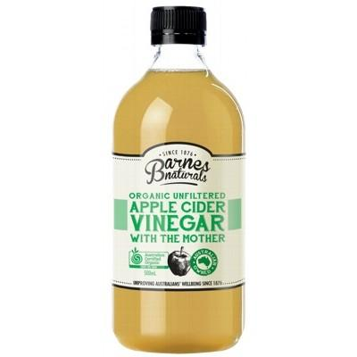 BARNES NATURALS Unfiltered & Organic Apple Cider Vinegar 500ml