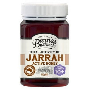 BARNES NATURALS Organic Jarrah Active Honey TA 10+ 500g