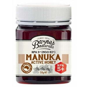 BARNES NATURALS Organic Manuka Active Honey NPA 5+ (MGO83+) 250g