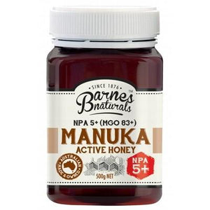 BARNES NATURALS Organic Manuka Active Honey NPA 5+ (MGO83+) 500g