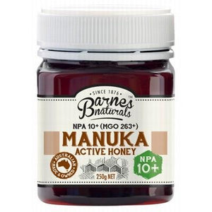 BARNES NATURALS Organic Manuka Active Honey NPA 10+ (MGO263+) 250g
