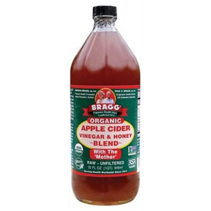 BRAGG Apple Cider Vinegar & Honey Unpasteurised & Unfiltered 946ml