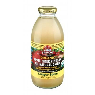BRAGG Organic Apple Cider Vinegar Drink ACV with Ginger Spice 473ml