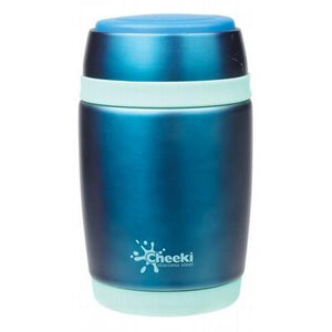 CHEEKI Insulated Food Jar Blue 480ml