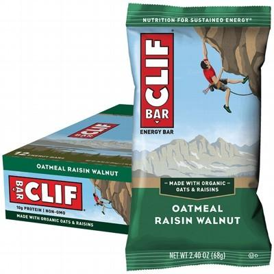 CLIF - Organic Energy Bar - Oatmeal Raisin Walnut - Box of 12