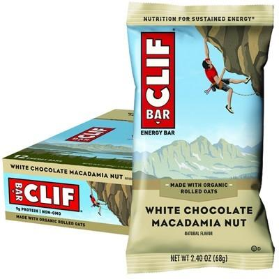 CLIF - Organic Energy Bar - White Chocolate Macadamia - Box of 12