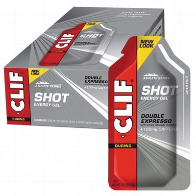 CLIF - Organic Energy Shot Gel Double Expresso w 100mg Caffeine Box of 24