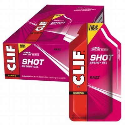 CLIF - Organic Energy Shot Gel Razz - Box of 24
