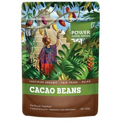 POWER SUPER FOODS Organic Cacao Beans - The Origin Series 250g