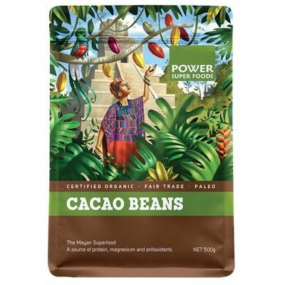 POWER SUPER FOODS Organic Cacao Beans - The Origin Series 500g