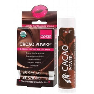 POWER SUPER FOODS Organic Chocolate Lip Balm Cacao Power