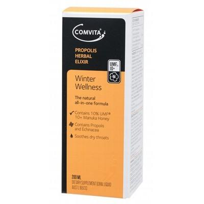 COMVITA Propolis Herbal Elixir Contains 10% Manuka UMF 10+ 200ml