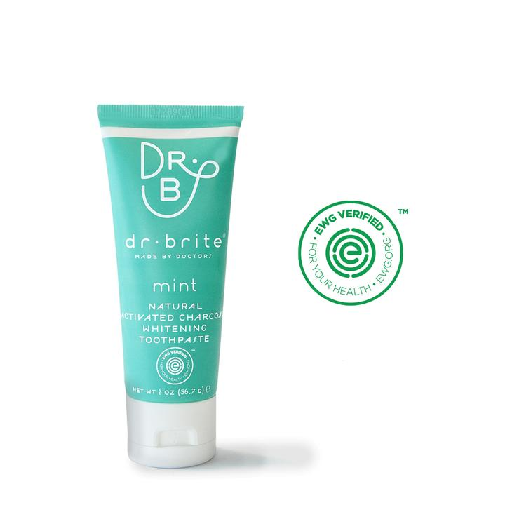 DR BRITE Natural Mint Toothpaste + Mouthwash Travel Set