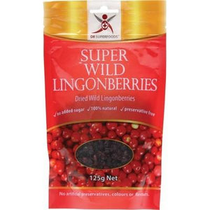 DR SUPERFOODS Super Wild Lingonberries Dried Wild Lingonberries 125g