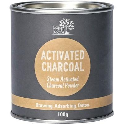 EDEN HEALTHFOODS Activated Charcoal Steam Activated Charcoal Powder 100g