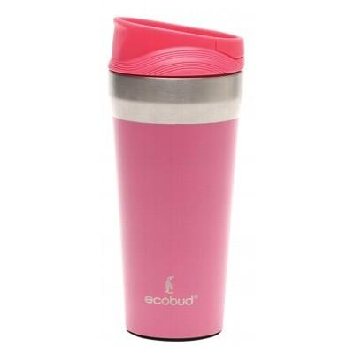 ECOBUD Vacuum Insulated Mug Stainless Steel - Pink 400ml