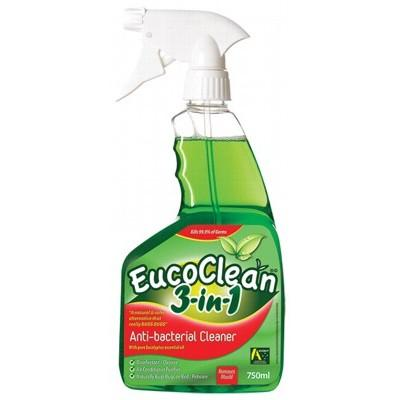EUCOCLEAN Anti-bacterial Cleaner 3-in-1 Disinfect/Clean/Bed Bugs 750ml