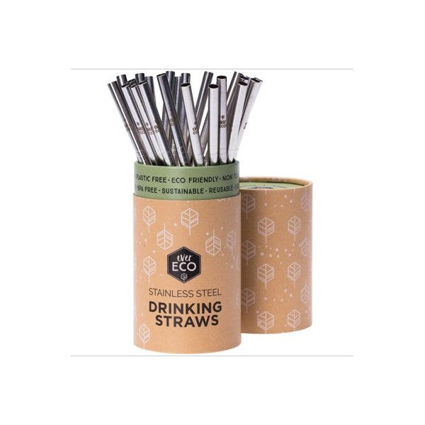 EVER ECO Stainless Steel Straws - Straight Counter Display - 25