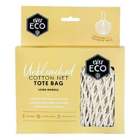 EVER ECO Tote Bag Cotton Net - Long Handle - 1