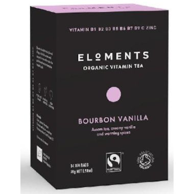 ELOMENTS Organic Bourbon Vanilla Vitamin Tea 14 tbags