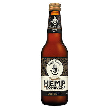 HAPPY HIPPIE Organic Kombucha + Hemp Coffee Hit 330mL