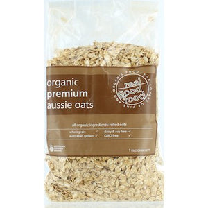 REAL GOOD FOOD Organic Rolled Premium Aussie Oats 1kg