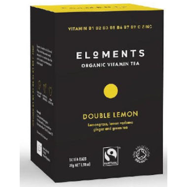 ELOMENTS Organic Double Lemon Vitamin Tea 14 tbags