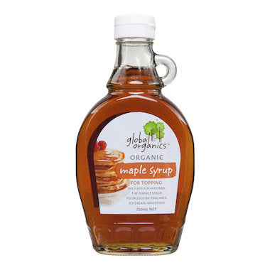 GLOBAL ORGANICS Organic Maple Syrup 250ml