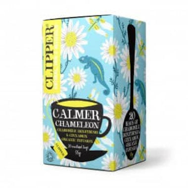 CLIPPER Tea Organic High End Herbal Calmer Chameleon Enveloped 20 tbags