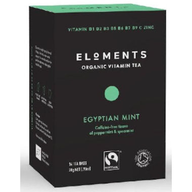 ELOMENTS Organic Egyptian Mint Vitamin Tea 14 tbags