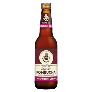 HAPPY HIPPIE Organic Kombucha Passionfruit Dream 330mL
