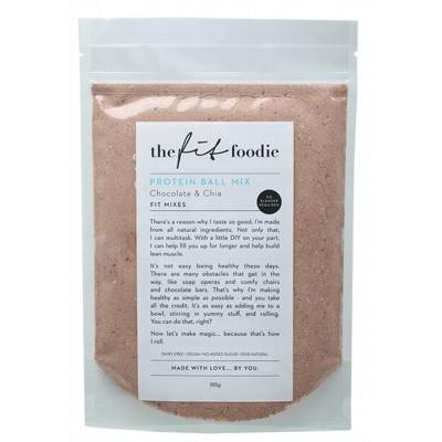 THE FIT FOODIE Chocolate & Chia Protein Ball Mix 185g