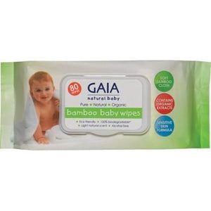 GAIA NATURAL BABY Baby Wipes Bamboo Wipes 80